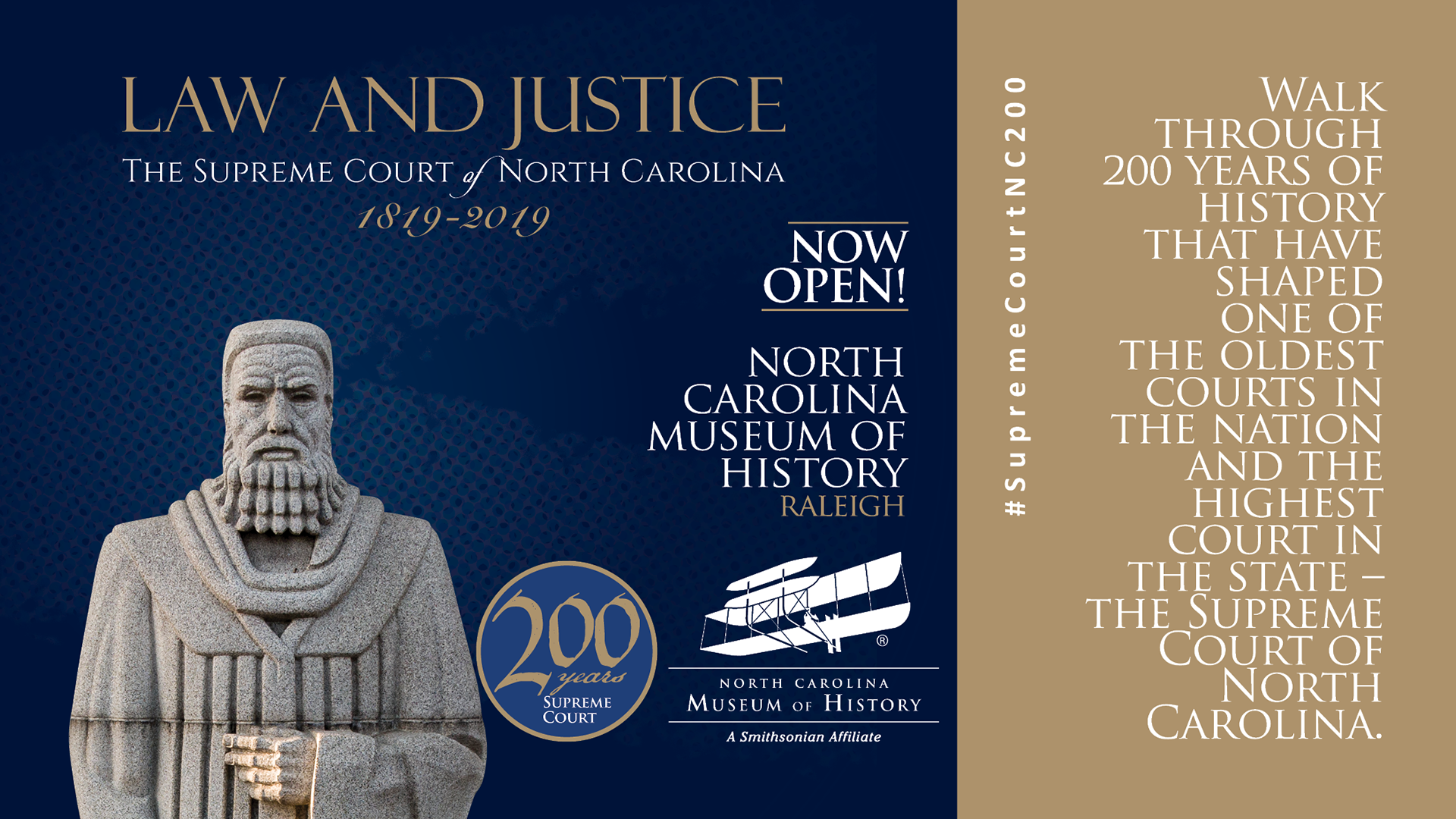 Supreme Court Exhibit at N.C. Museum of History