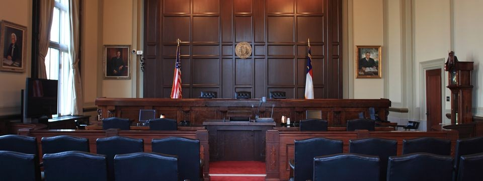 Court of Appeals courtroom and bench