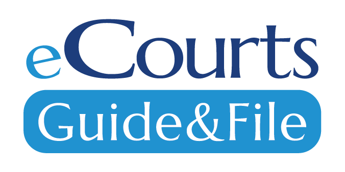 eCourts Guide & File logo stacked