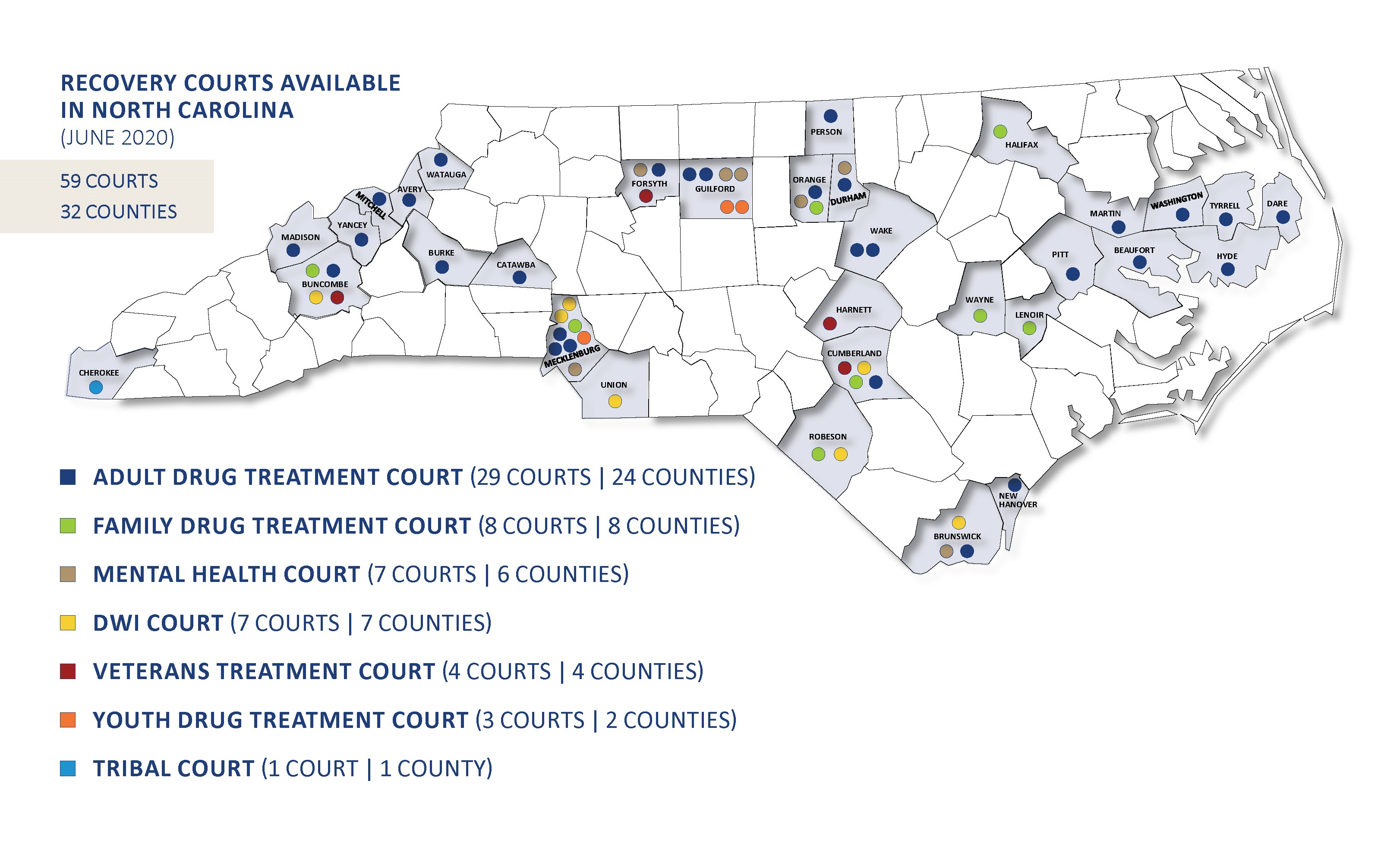 NC Recovery Courts Map