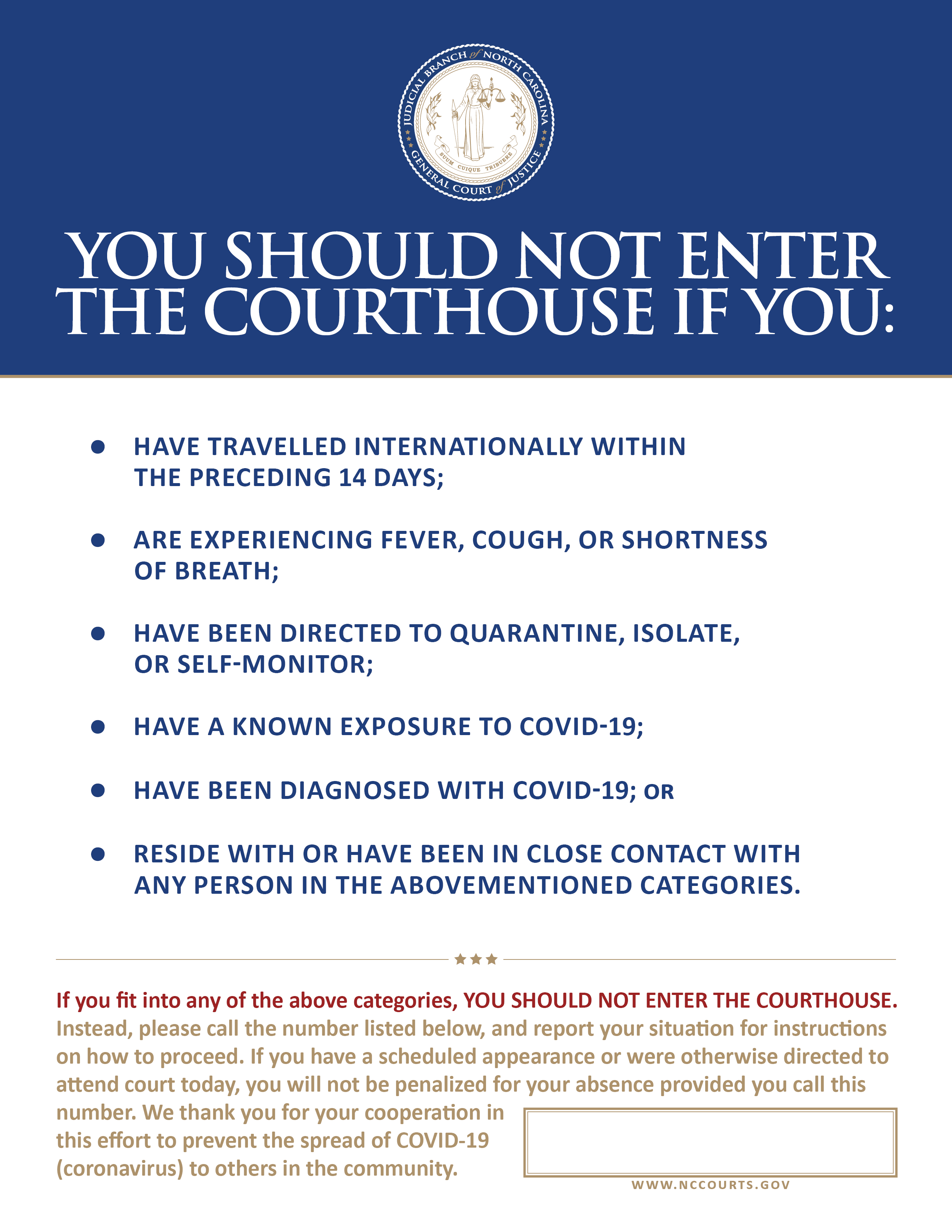 Do Not Enter Courthouse