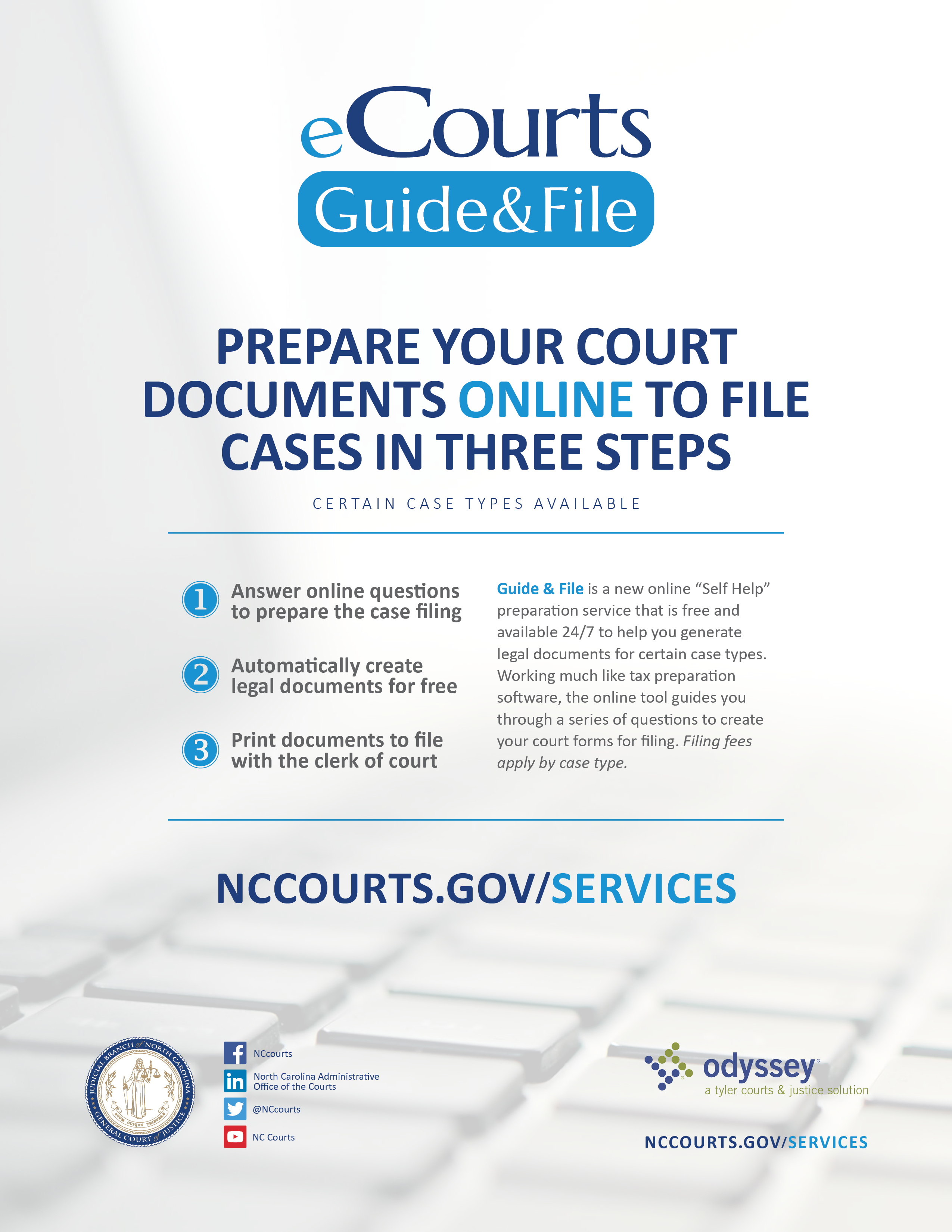 eCourts Guide & File poster