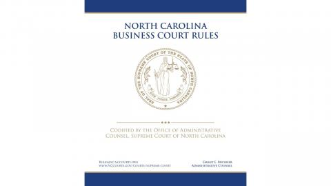Business Court Rules cover