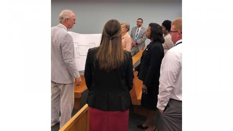 Chief Justice Cheri Beasley Tours Pender County Courts