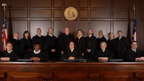 Court of Appeals judges in the courtroom