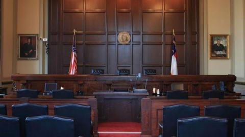 North Carolina Court of Appeals Courtroom